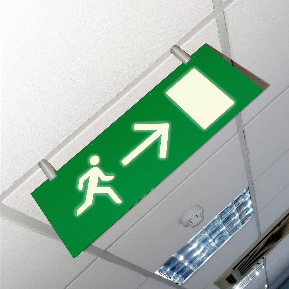 Fire Exit Sign Photoluminescent