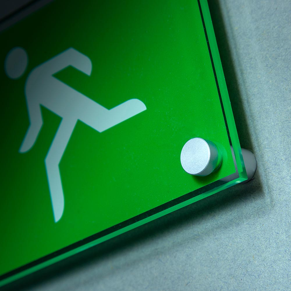 fire exit wall mounted sign