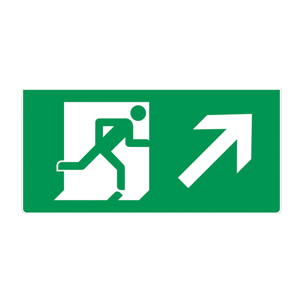 Fire Exit Sign - RIGHT UP