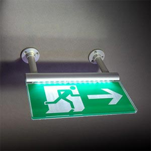BS EN ISO7010  FE LED Signslot - Illuminated - Ceiling hanging