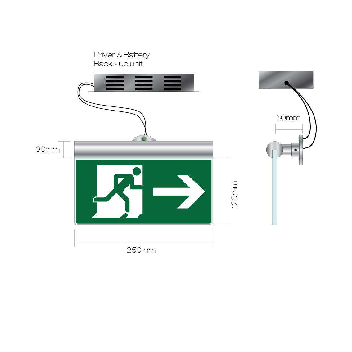 safety sign led battery pack