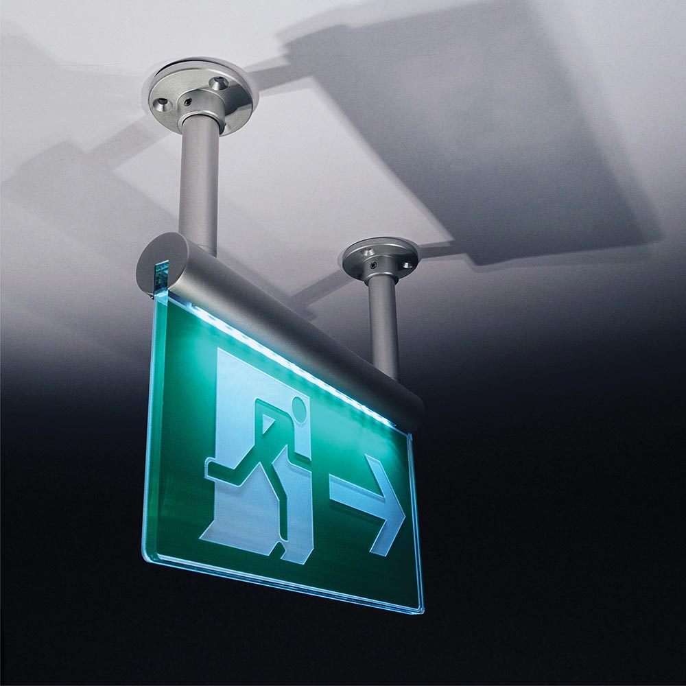 ceiling fixing fire exit sign
