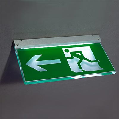 ~Ceiling fire exit sign