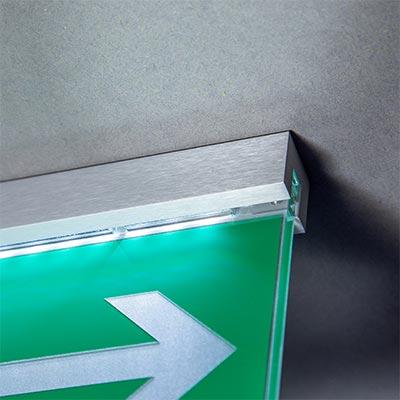 Statutory Sign Fire escape - illuminated - DALI