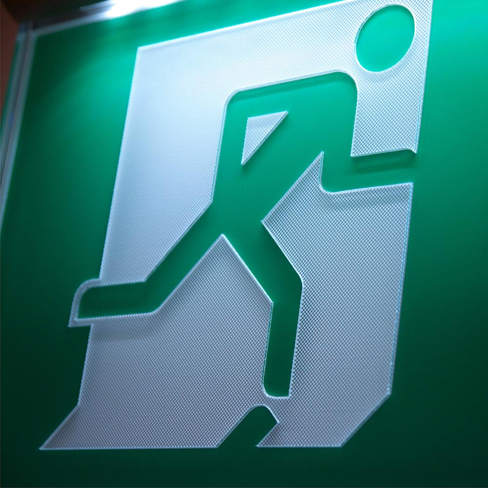 Statutory Fire exit sign