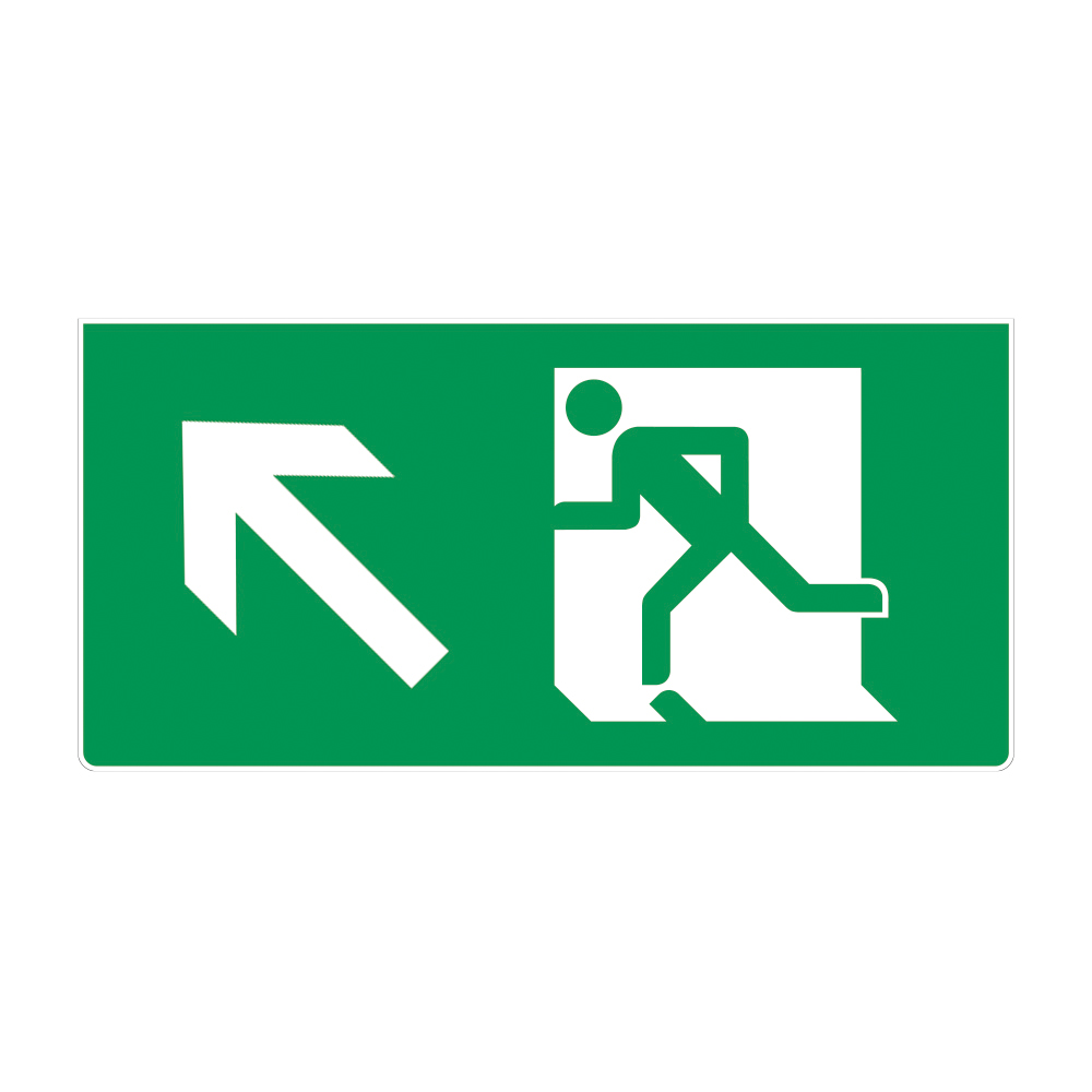Fire Exit Sign - LEFT UP