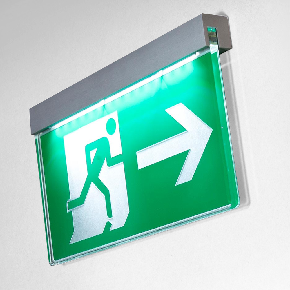 Fire Exit DALI Statutory free escape sign