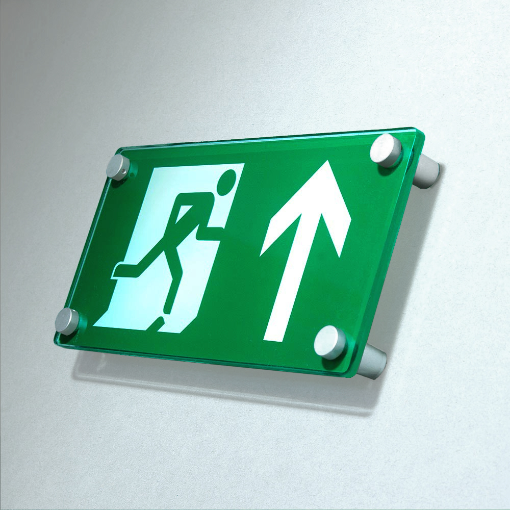 ACRYLIC WALL MOUNTED FIRE EXIT SIGN