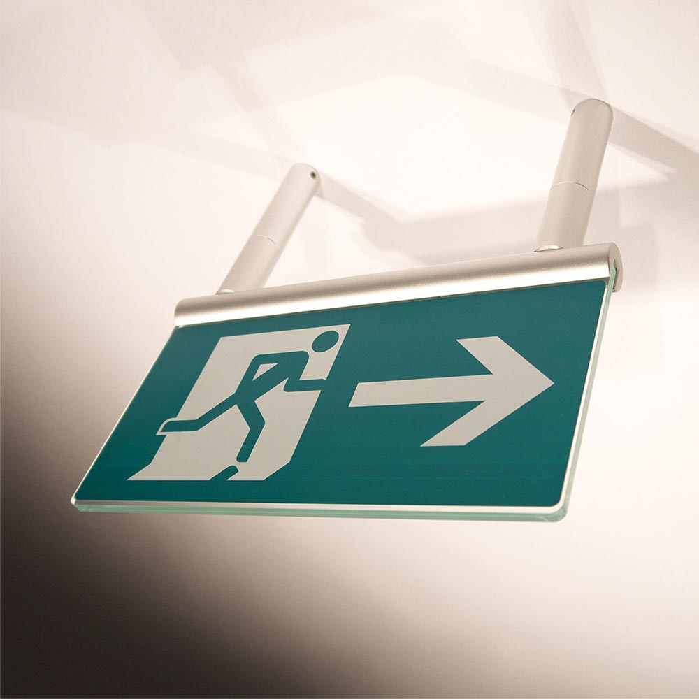 Fire Exit Sign - Signslot Ceiling Mounted