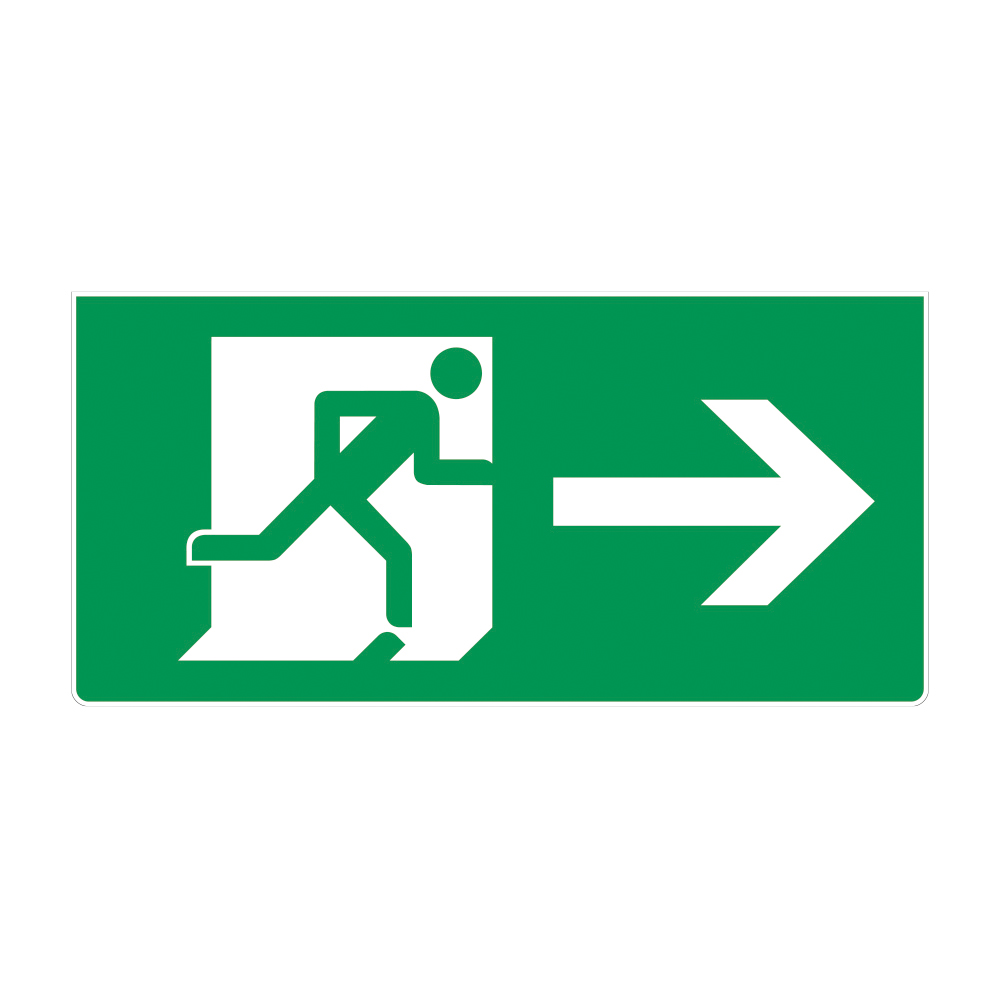Fire Exit Sign - RIGHT