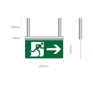 Fire Exit Sign - Signslot Wall Mounted