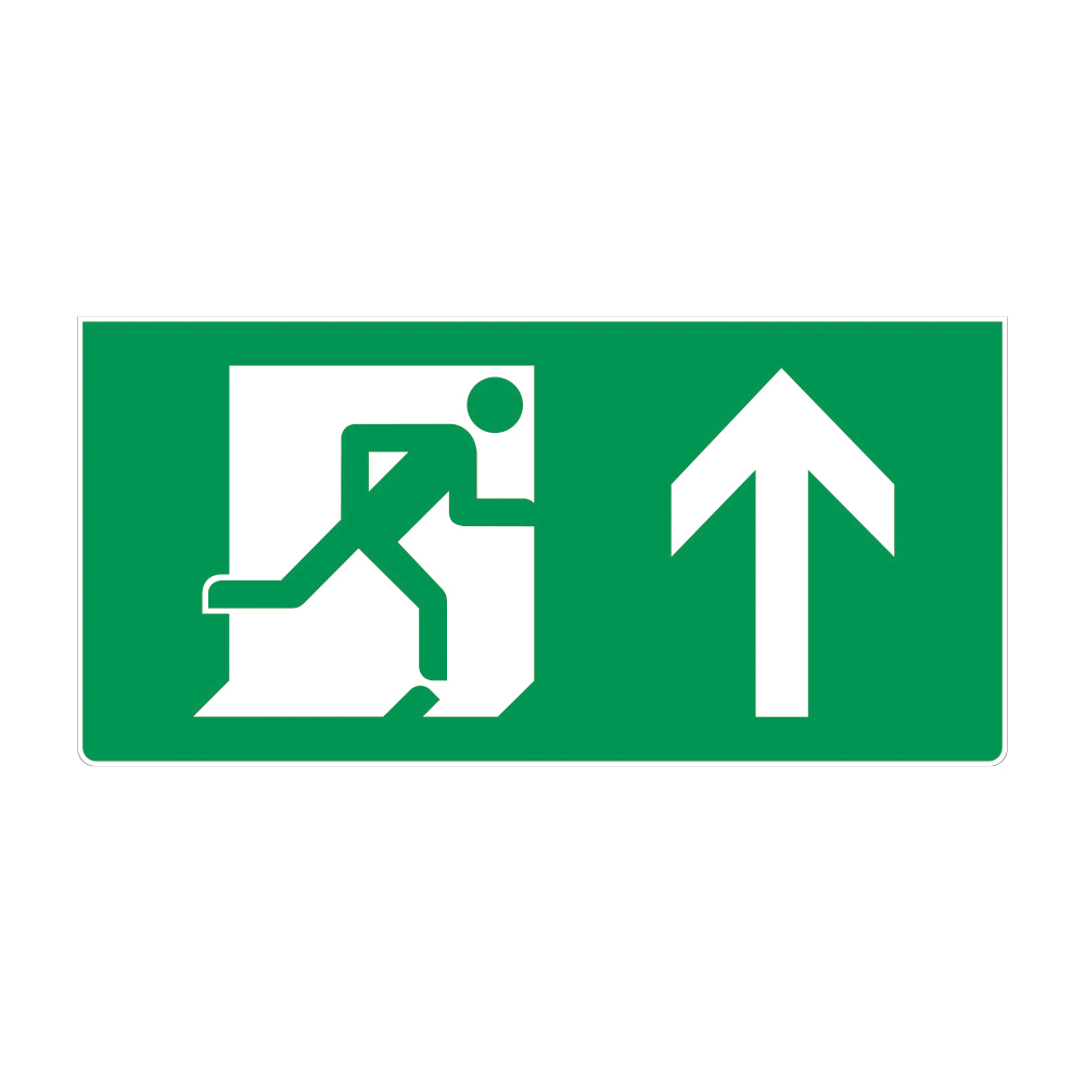 Fire Exit Sign - Up Arrow
