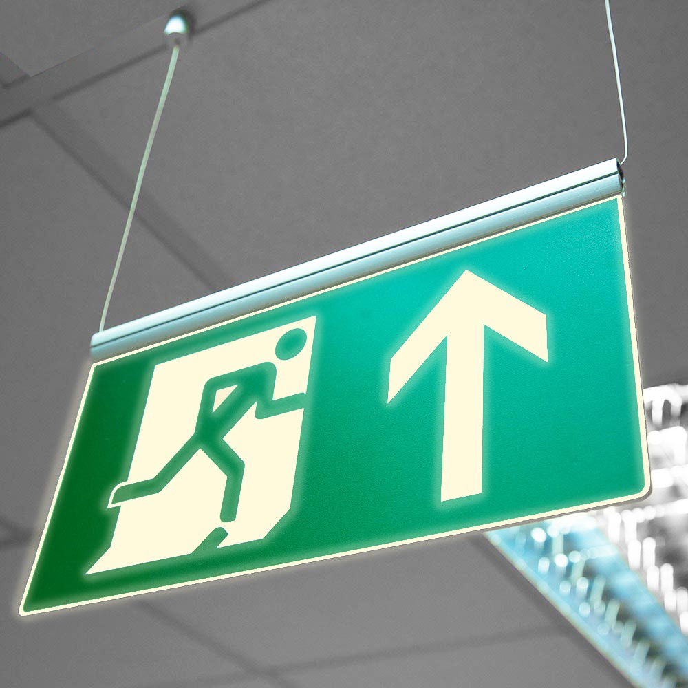 Fire Exit Sign - Photoluminescent