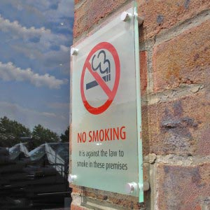 No smoking - Outdoor sign