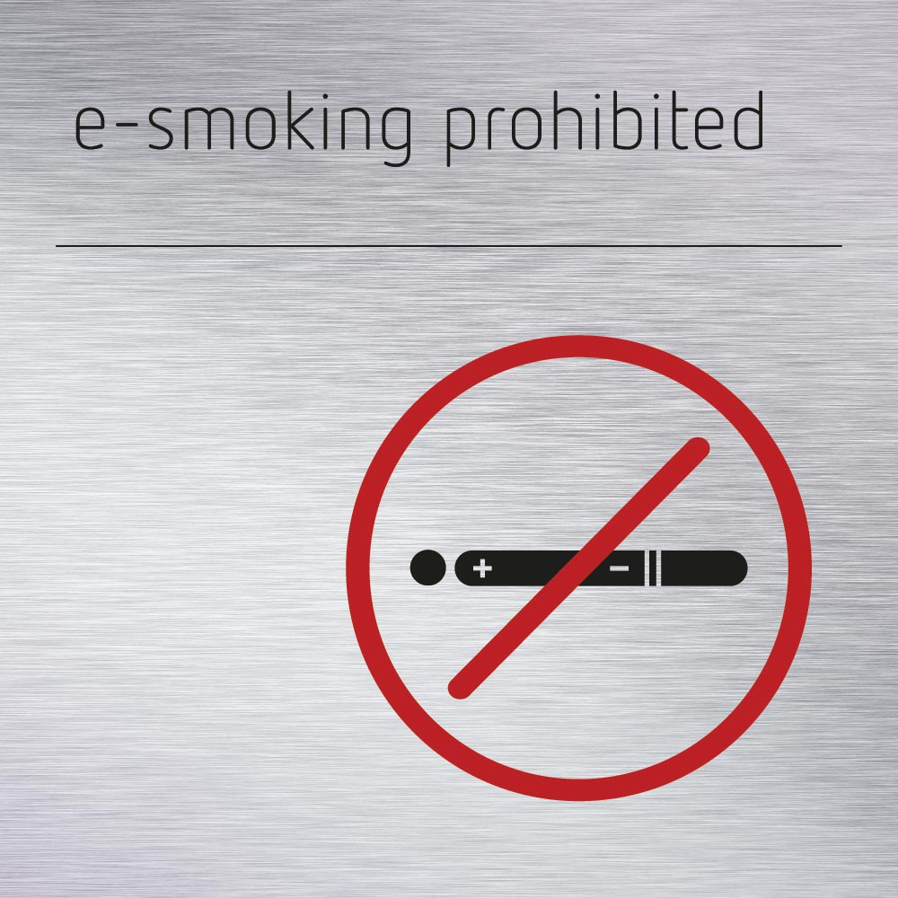 e-smoking prohibited sign