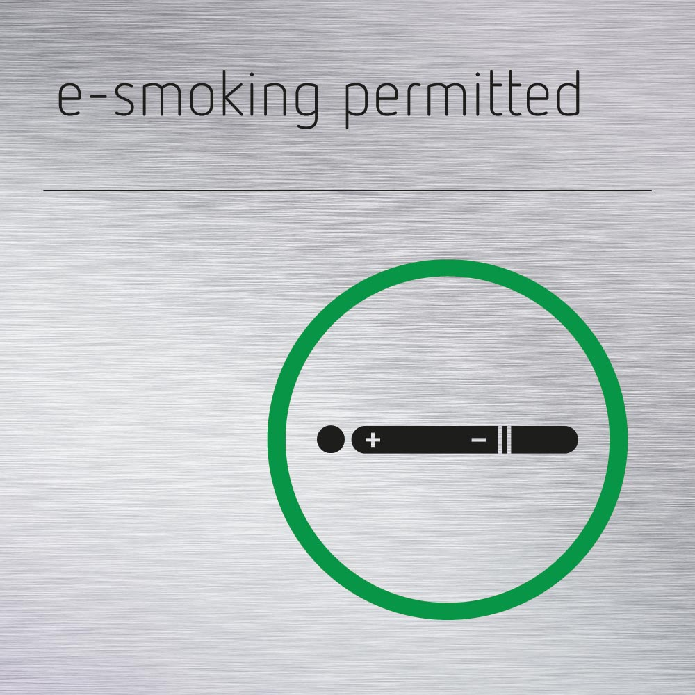 e-smoking permitted sign