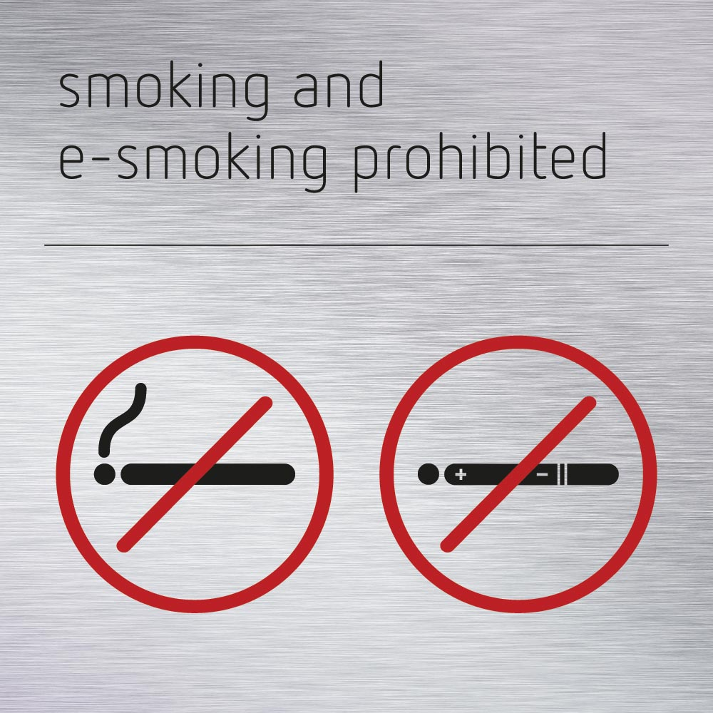 smoking and e-smoking prohibited sign