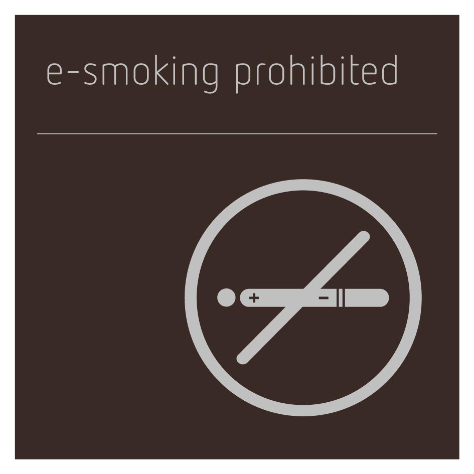 E-Smoking Prohibited Sign - Bronze