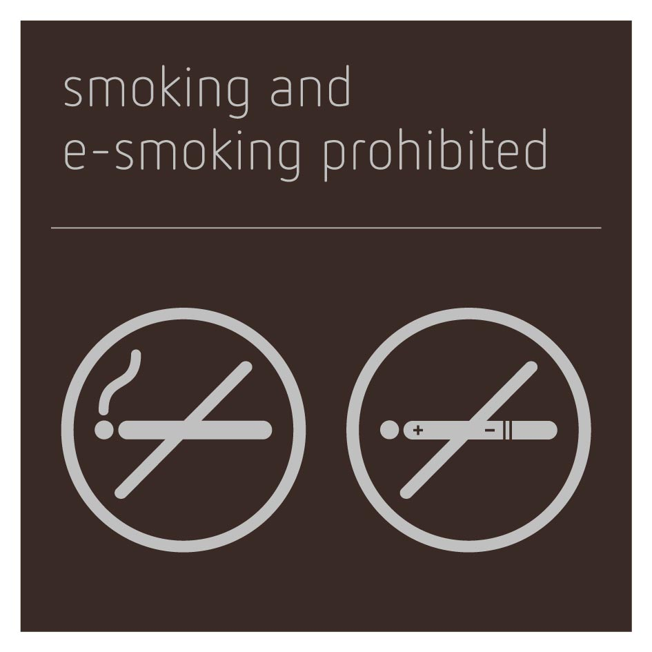 Smoking and E-Smoking Prohibited Sign - Bronze