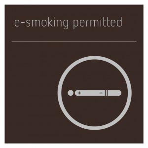 E-Smoking Permitted Sign - Bronze