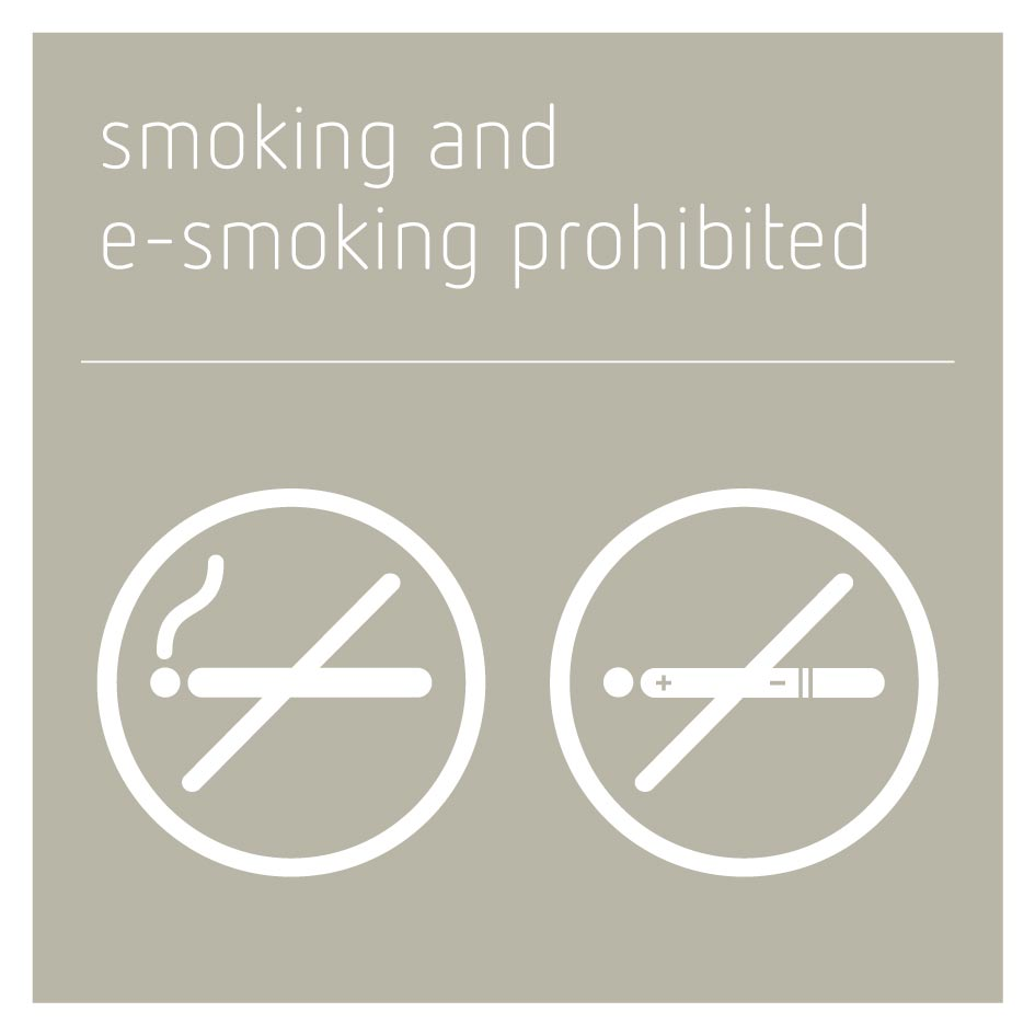 Smoking and E-Smoking Prohibited Sign - Concrete Grey