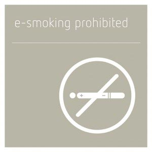 E-Smoking Prohibited Sign - Concrete Grey