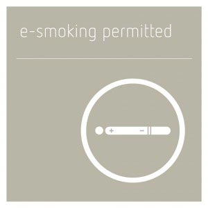 E-Smoking Permitted Sign - Concrete Grey
