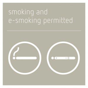 Smoking & E-Smoking Permitted Sign - Concrete Grey