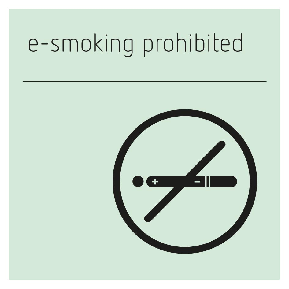 E-Smoking Prohibited Sign - Glacier