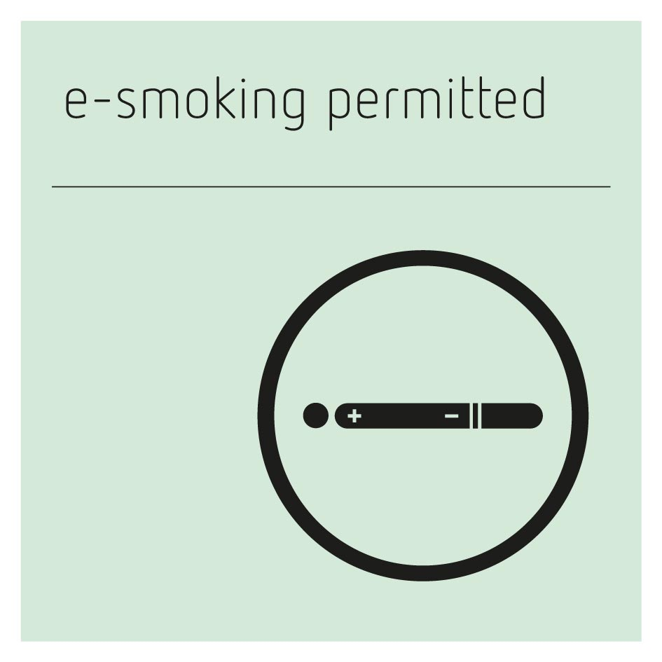 E-Smoking Permitted Sign - Glacier