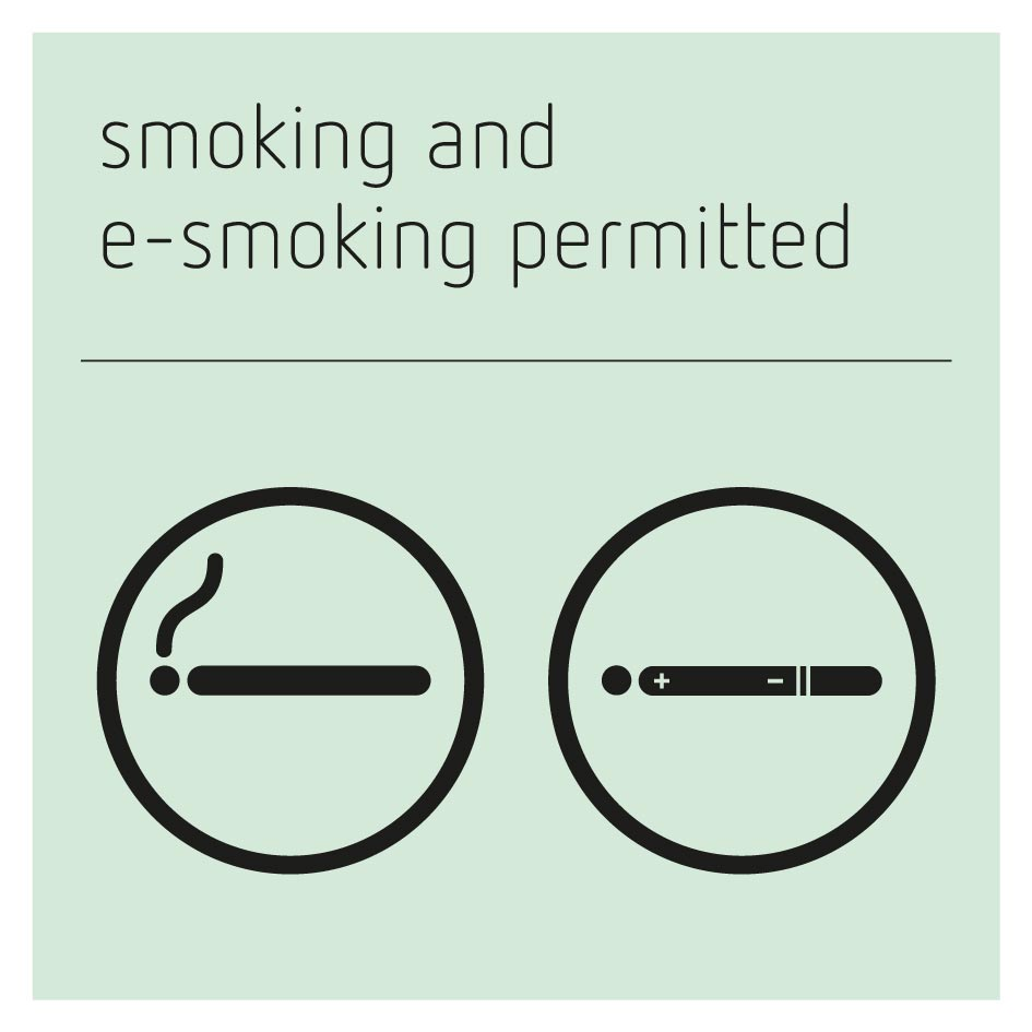 Smoking and E-Smoking Permitted Sign - Glacier