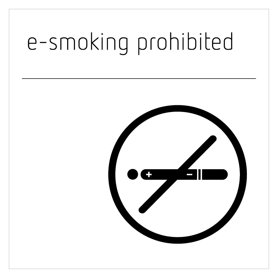 E-Smoking Prohibited Sign - Moon White