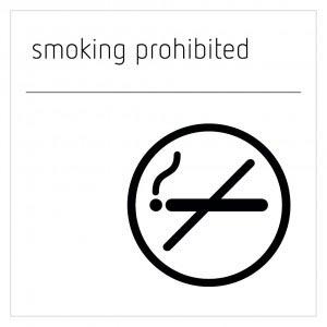 Smoking Prohibited Sign - Moon White