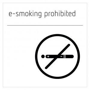 E-Smoking Prohibited Sign - Moon White