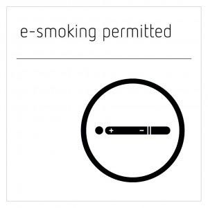 E-Smoking Permitted Sign - Moon White