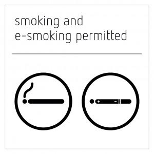 Smoking and E-Smoking Permitted Sign - Moon White