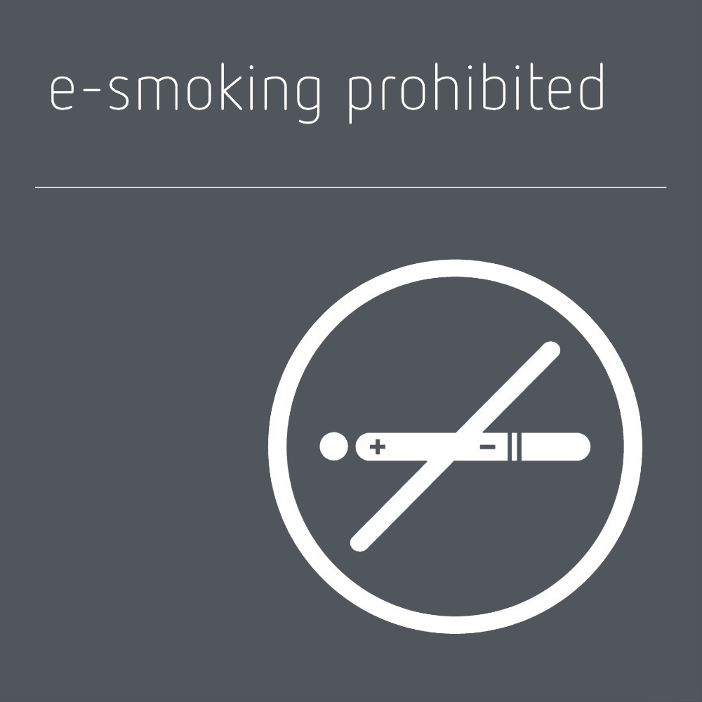 E-smoking prohibited sign - Mineral Grey