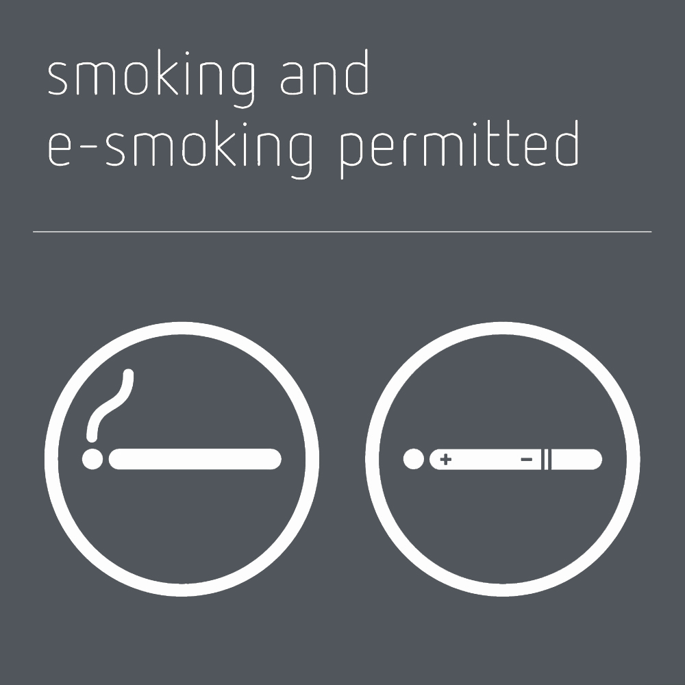 Smoking & e-smoking permitted sign - Mineral Grey