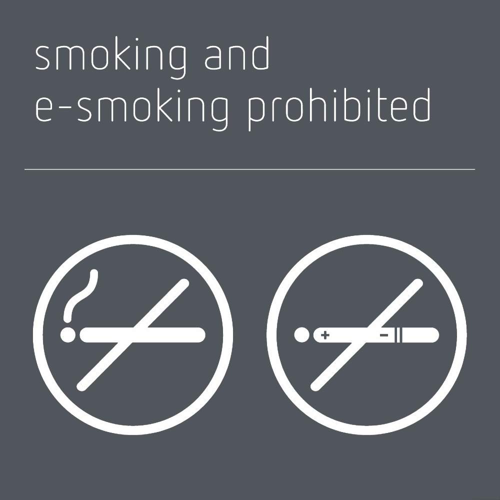 Smoking & e-smoking prohibited sign - Mineral Grey