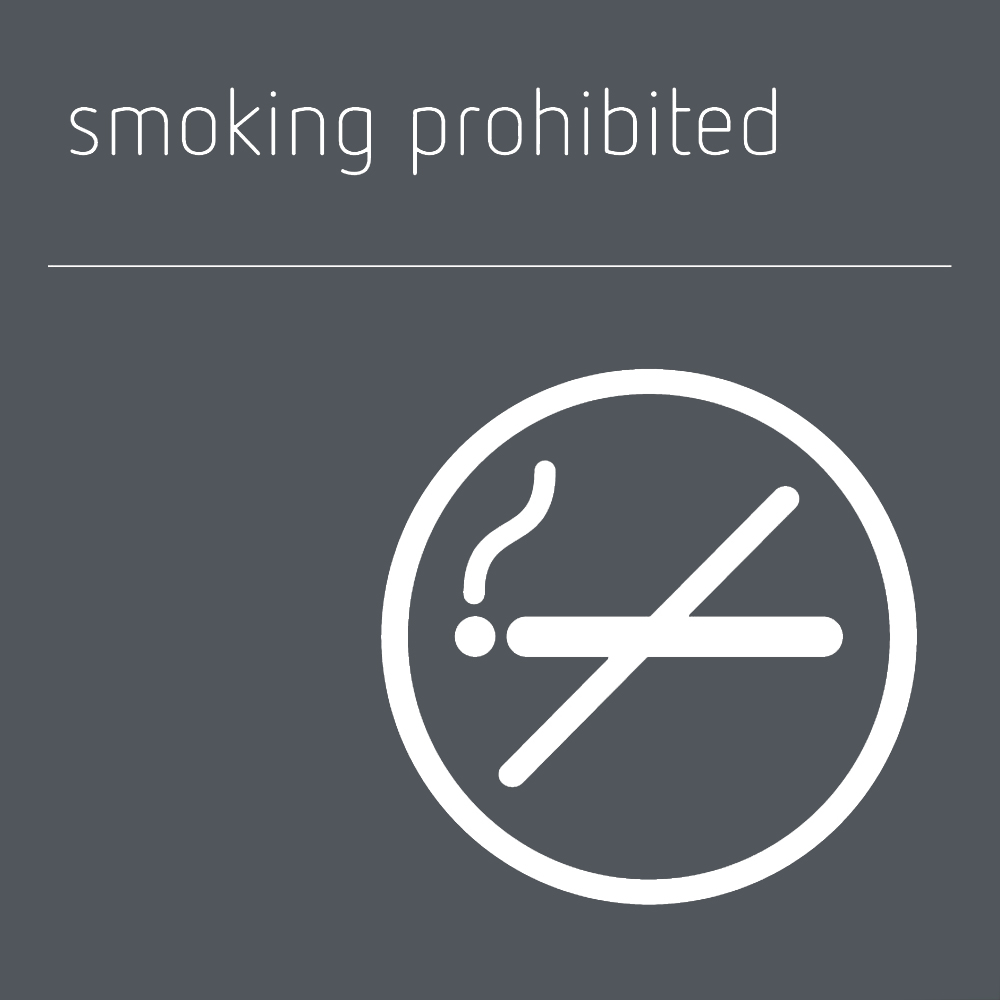 Smoking prohibited sign - Mineral Grey