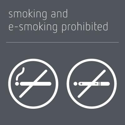 Smoking & e-smoking prohibited sign - Mineral Grey