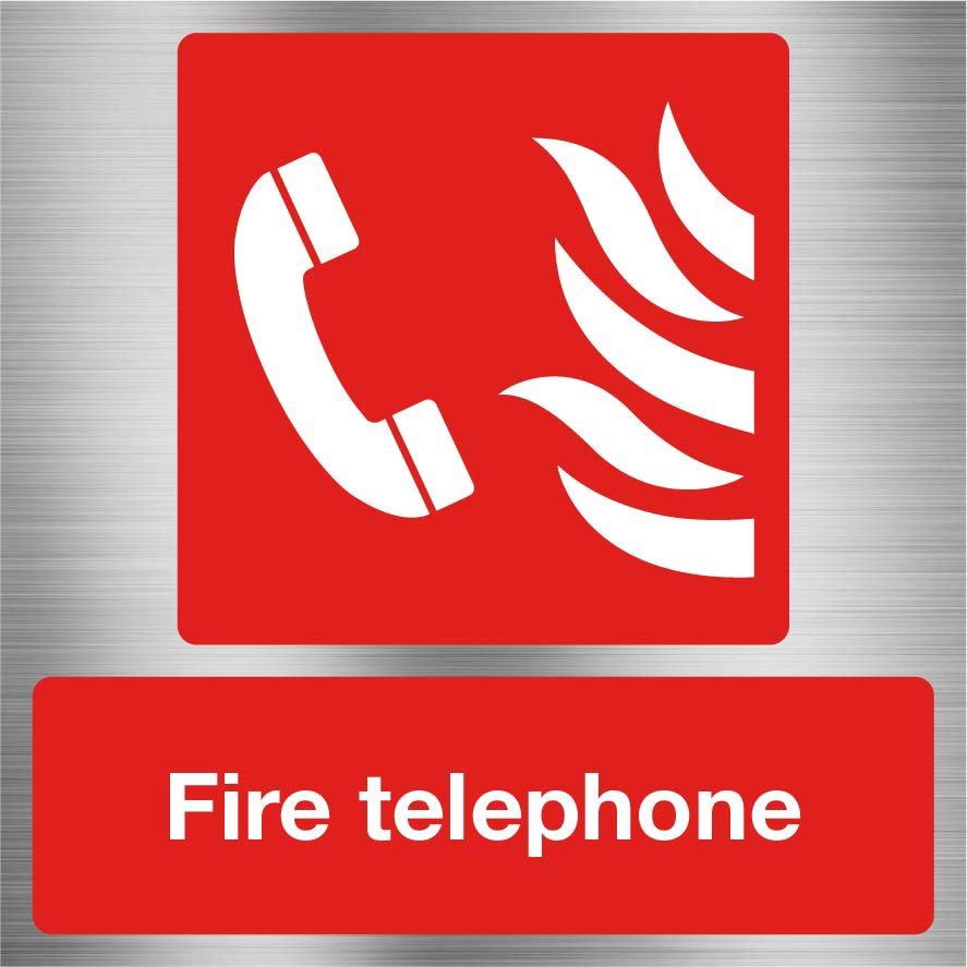 Fire Telephone Sign