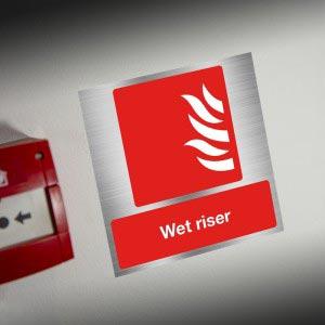 Wet Riser Sign