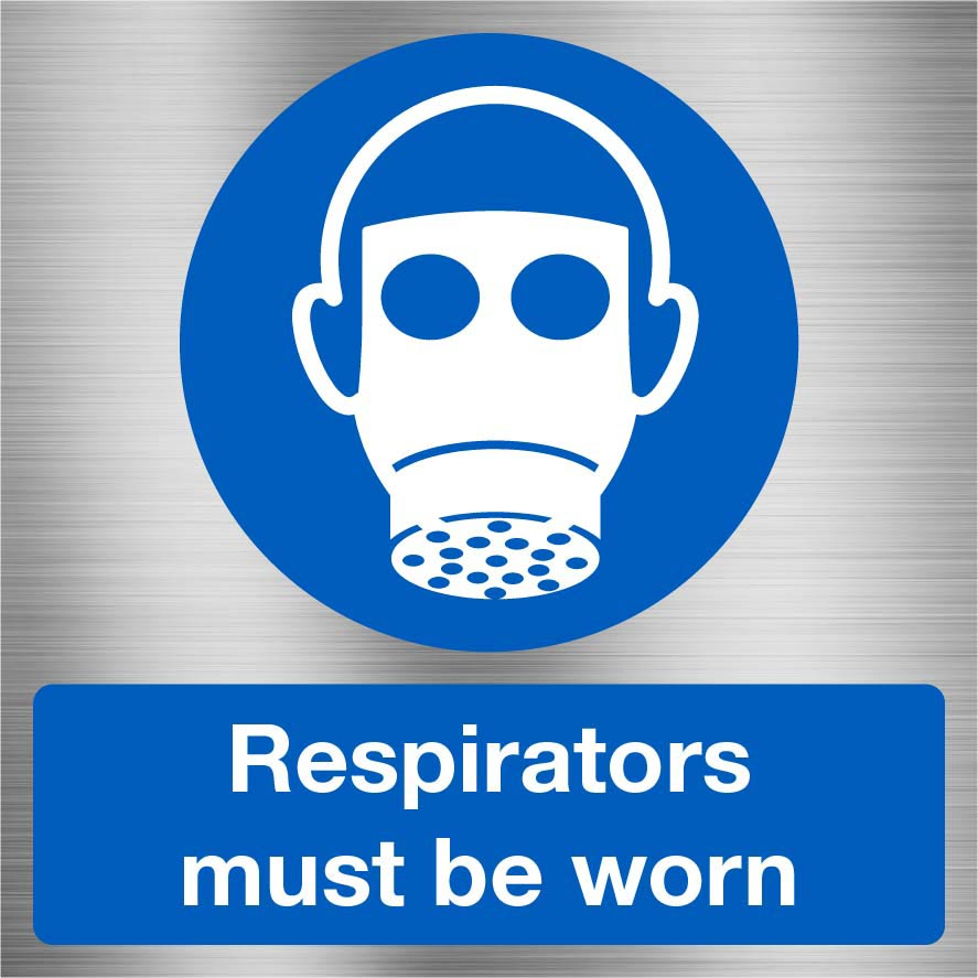 Respirators Must Be Worn Sign