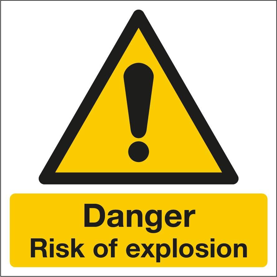 Danger Risk of Explosion Sign