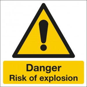 Danger Risk of Explosion Sign