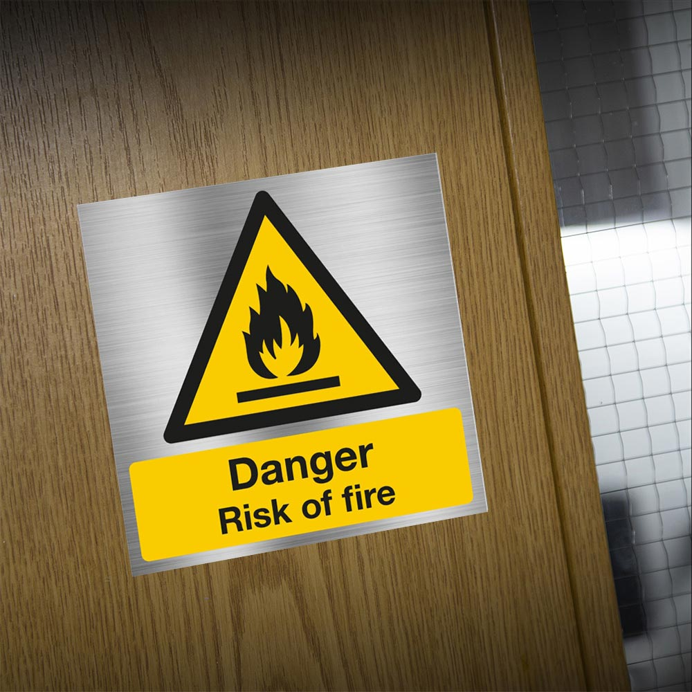 Danger Risk of Fire Sign