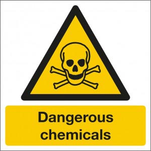 Dangerous Chemicals Sign