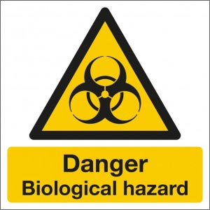 Danger biological hazard sign