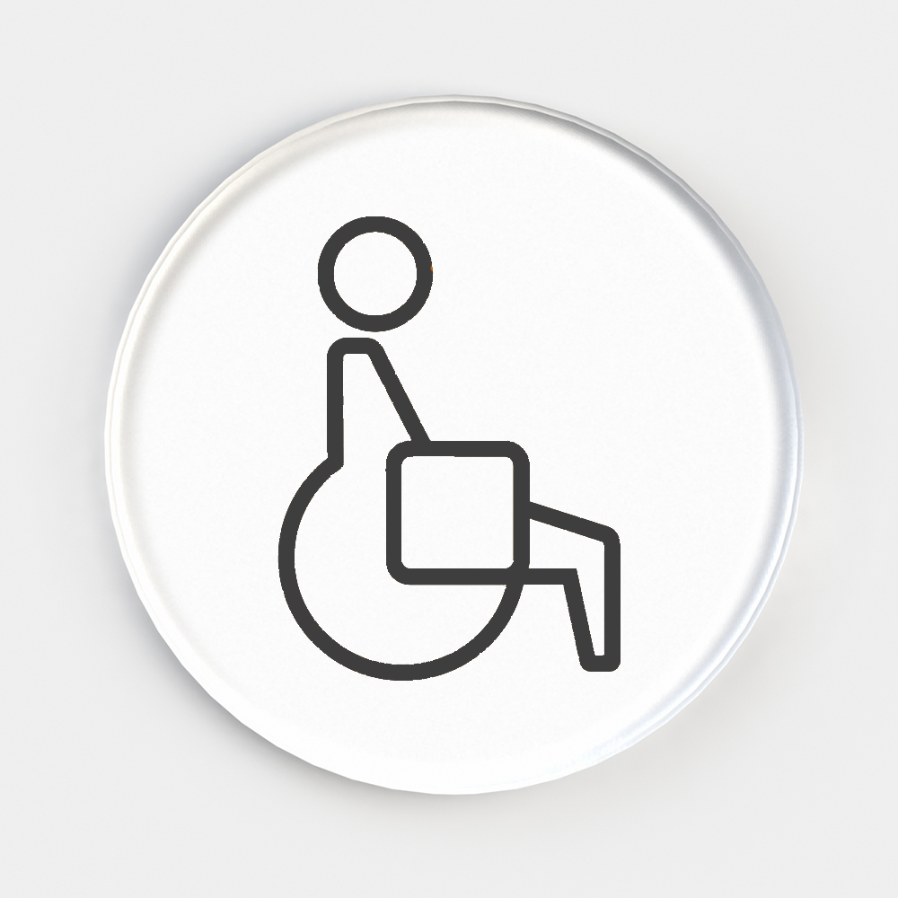 Picto Deco Washroom Signage - Disabled / Accessable